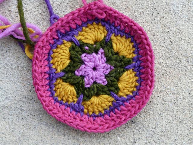 african flower crochet hexagon for a big rug