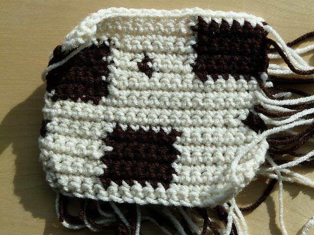 practice crochet swatch