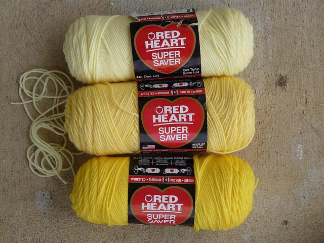 yellow yarns for crochet