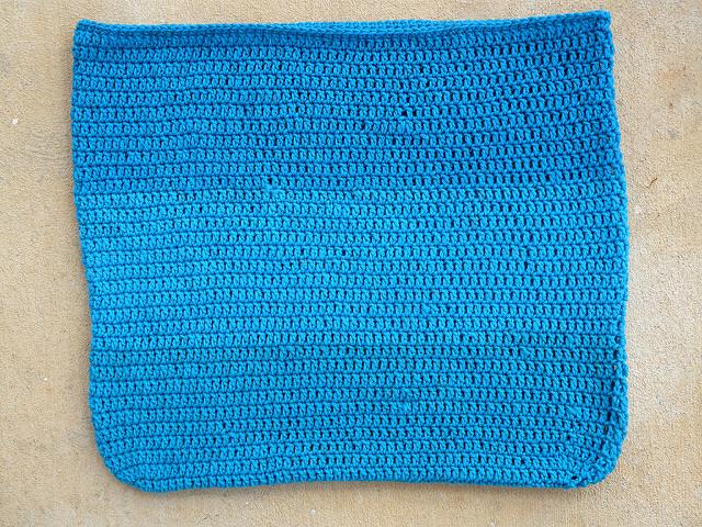 body of a crochet tote