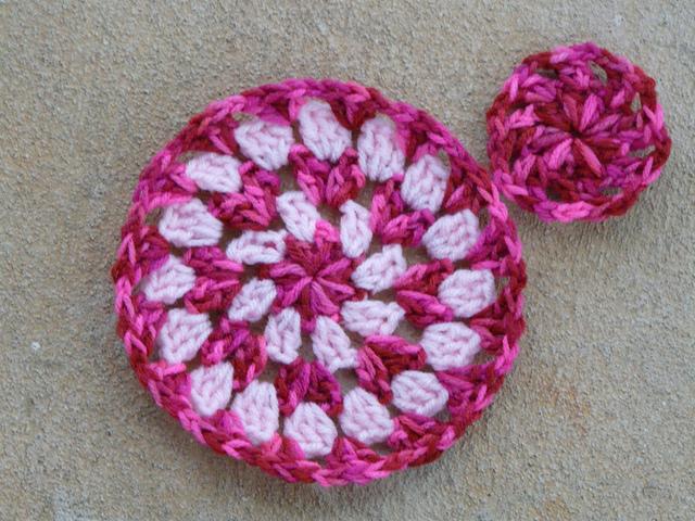 crochetbug, crochet circle, crochet wheel, crochet granny circle, use what you have