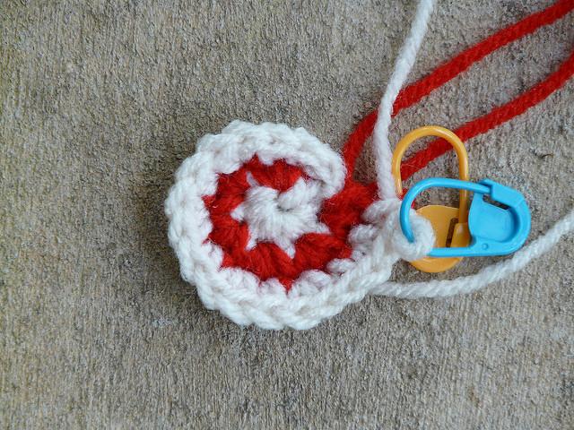start of a crochet spiral