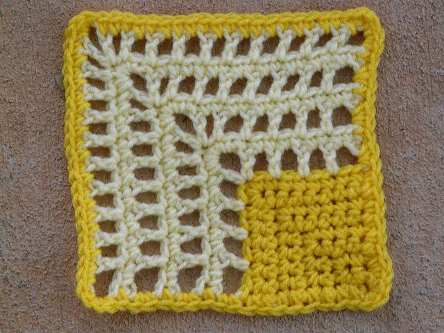 mitered crochet square