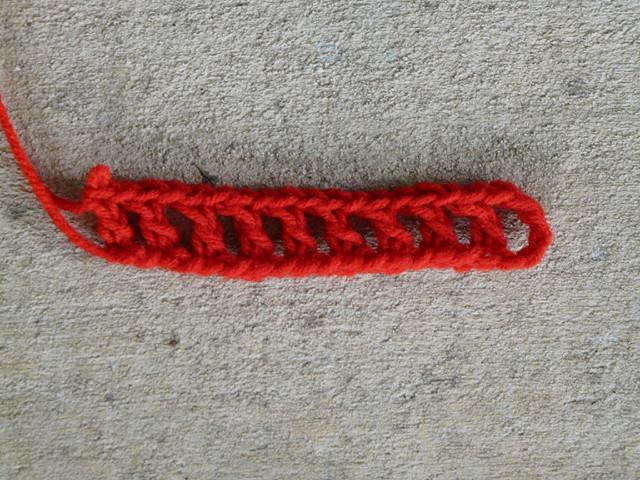 foundation row interlocking crochet