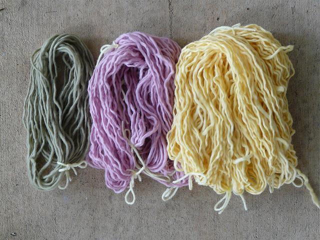 preparing wool and mohair yarn for kook-aid dyeing