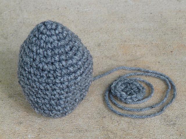 amigurumi porcupine in process