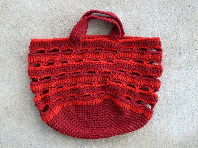 crochetbug, crochet bag, crochet basket, crochet hexagon, crochet yarn stash, cheerwine