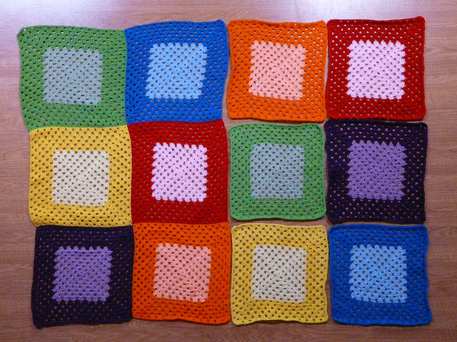 crochetbug, crochet blanket, crochet squares, granny squares, crochet afghan, crochet throw