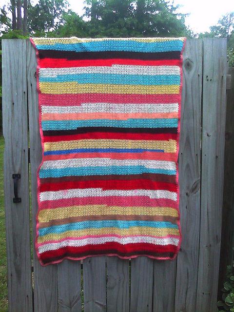 yarn scrap crochet blanket