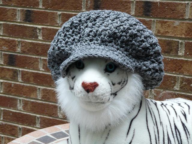 nubby crochet brimmed hat