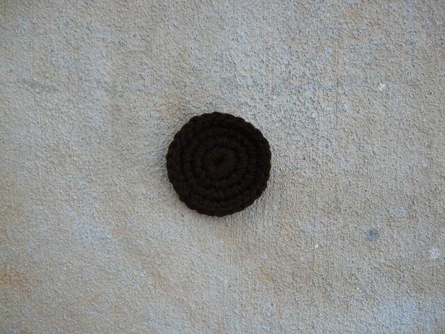 brown crochet circle