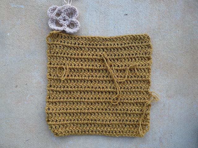 crochet square crochet flower