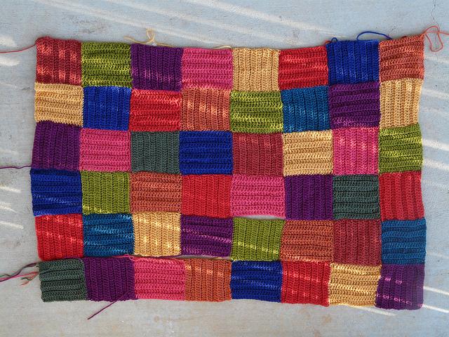 wool crochet pet mat