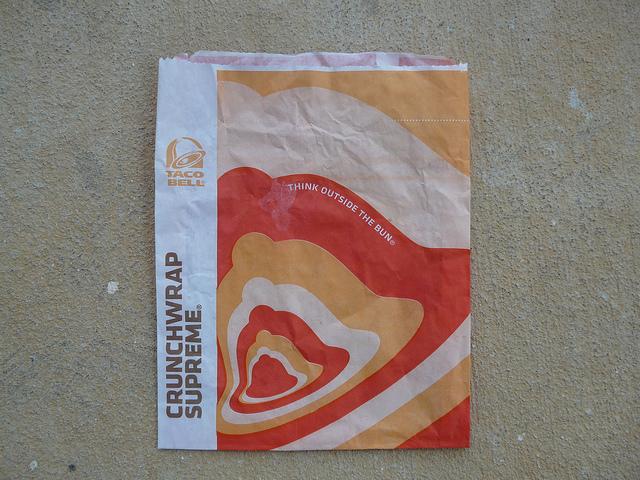 Taco Bell Crunchwrap Supreme bag
