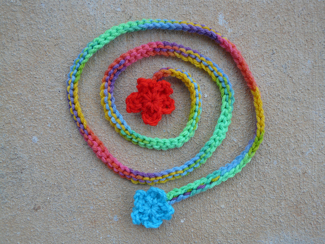 The string for my crochet poncho