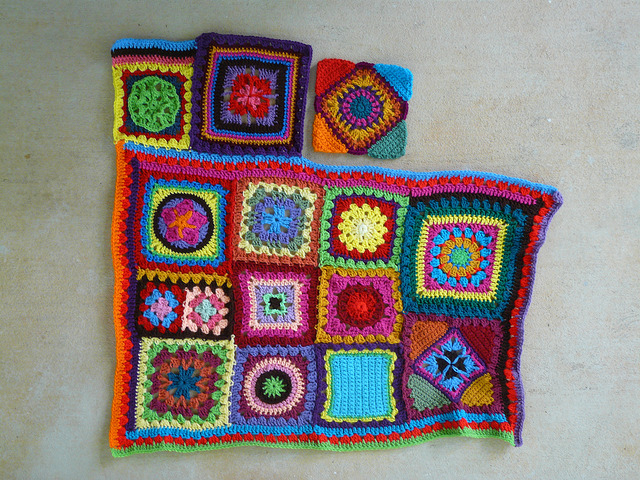 join as you go crochet square