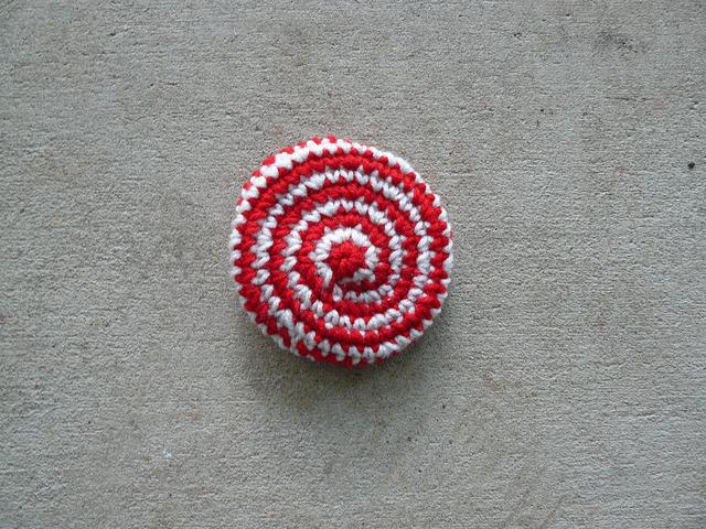 one swirl crochet cookie