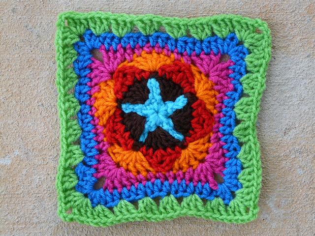 crochet star crochet square