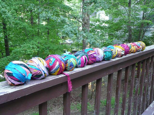 crochet fiber stash