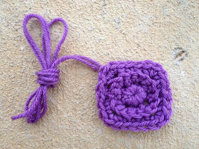 small textured crochet square