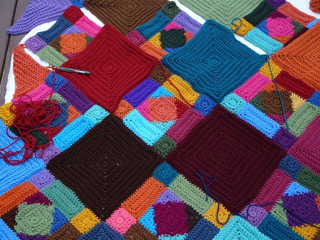 crochetbug, textured crochet squares, textured crochet rectangles, textured crochet triangles, textured crochet blanket, textured crochet afghan, textured crochet throw