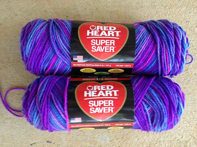 crochetbug, crochet, red heart super saver, grape fizz