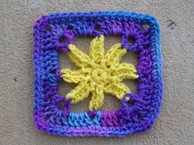 crochetbug, crochet square, crochet flower, granny square, jean leinhauser