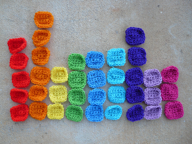 December 30: Crochet squares to be used in solving the crochet sudoku puzzles