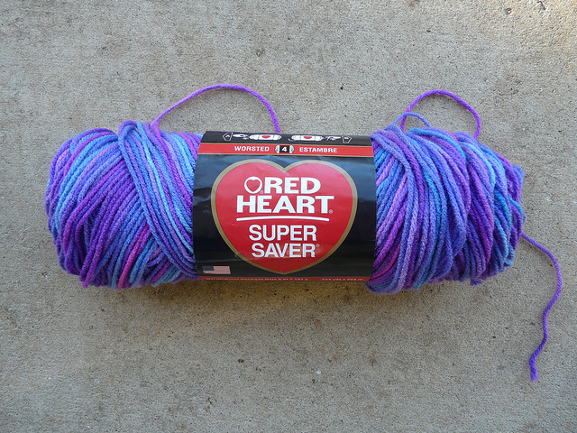 Red Heart Super Saver grape fizz acrylic yarn