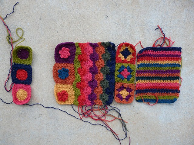 the crochet pieces of a future crochet ascot