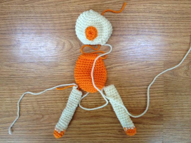 crochet bear pieces
