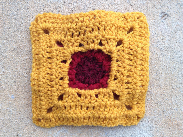 back of a crochet square