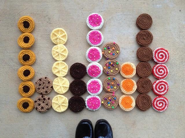 crochetbug, crochet cookies, amigurumi cookie, crochet sudoku, crochet throw, crochet puzzle