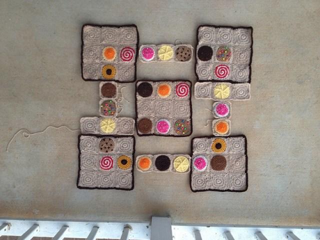 crochetbug, crochet cookies, crochet squares, crochet sudoku, crochet puzzle, crochet circles