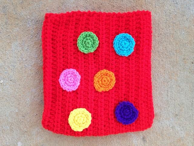 crochetbug, crochet dots, crochet circles, crochet rectangle, crochet purse, crochet bag, crochet pocket purse