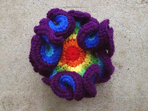 A Tetris inspired half-double hyperbolic plane