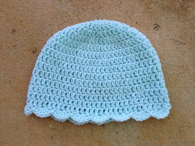 chemo crochet sleep cap