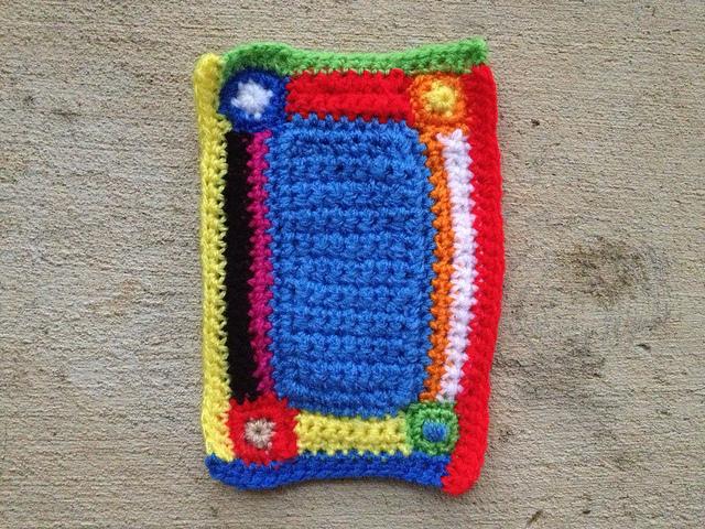 crochet mini-meta afghan applique for a project linus crochet blanket