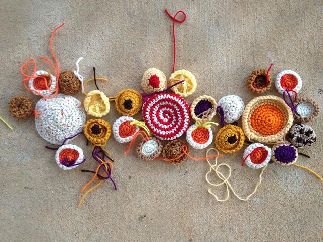 crochet cookie motifs