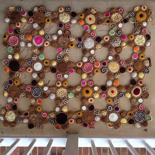 crochet cookie motifs for a crochet blanket