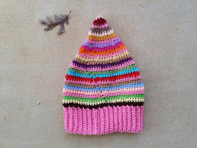 striped crochet hat, crochetbug, crochet stripes, crochet beanie, textured crochet, scrap buster, use what you have, yarn stash