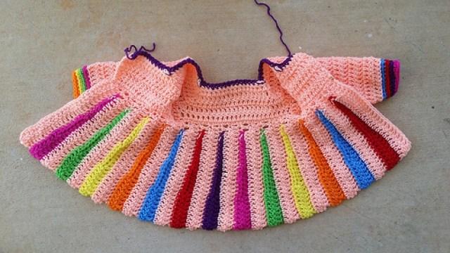 crochet sweater with crochet sleeves