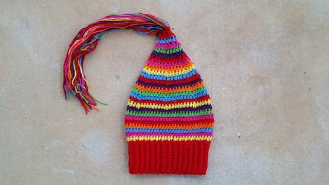 crochet hat, crochetbug, scrap buster, yarn stash, crochet beanie, textured crochet, crochet stripes