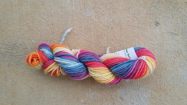 Hand-dyed yarn, crochetbug, wool yarn, yarn stash