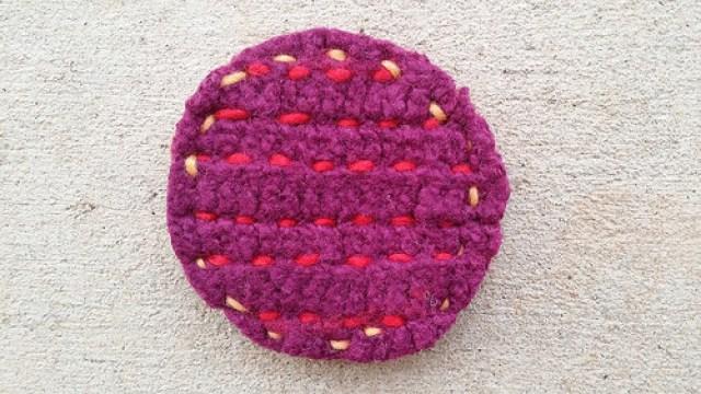 crochet furniture coaster