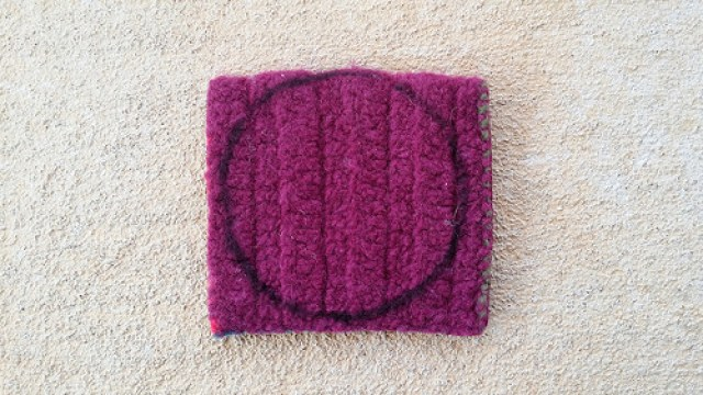 repurposing a felted crochet square