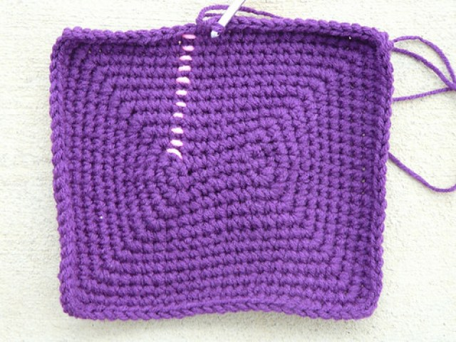 dark orchid crochet basket