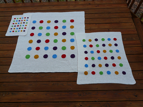 Then there were three DOTS inspired crochet blankets