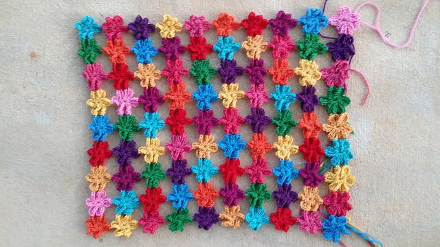 crochet flower crochet shawl