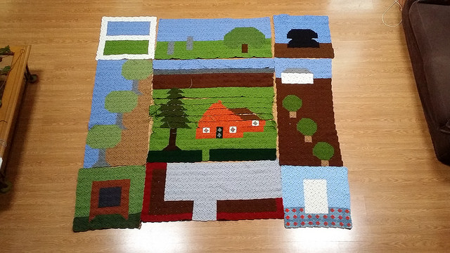crochet picture panels